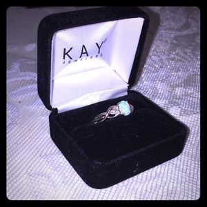 Kay Jewelers Opal ring and bracelet